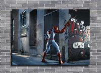 SPIDER MAN - STREET SLASHER SANDSTONE EFFECT canvas print - self adhesive poster - photo print